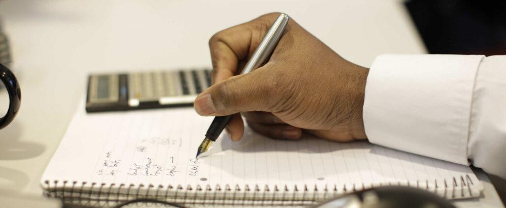 یادداشت برداری روی کاغذ