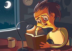 درس خواندن در شب