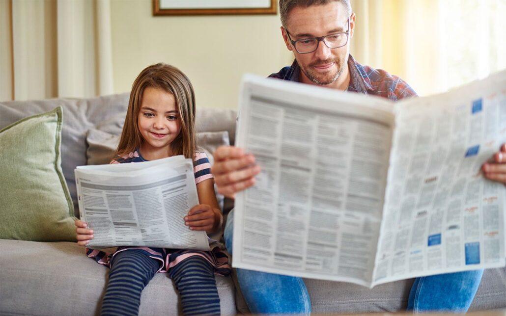 روزنامه خواندن